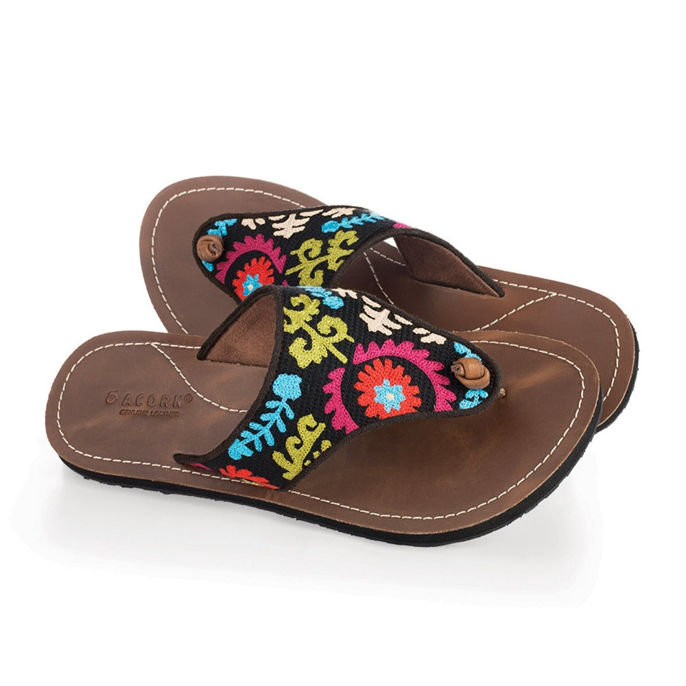 Women's Artwalk Embroidered Sandals in Multi Suzani Pair