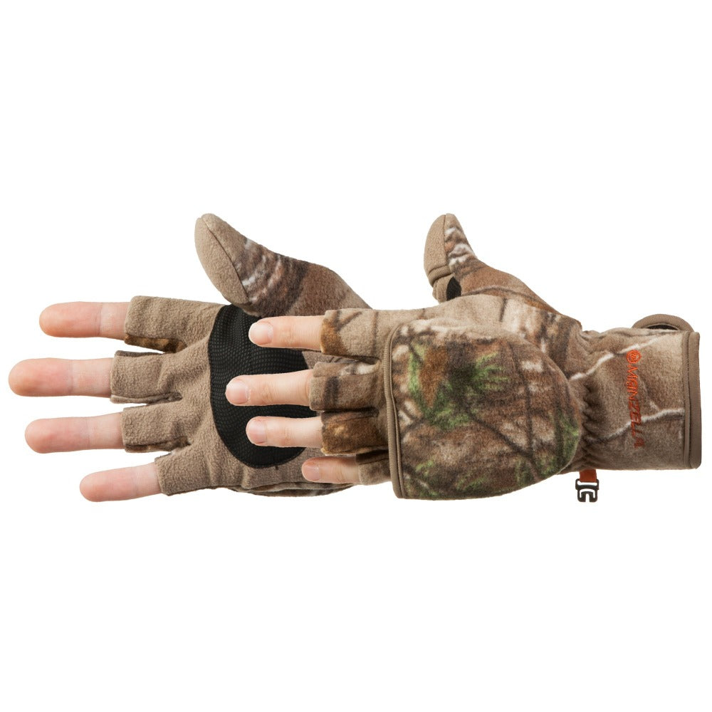 Women's Bowhunter Convertible Hunting Gloves Pair Side Profile