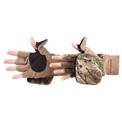 Men's Hunter Convertible Gloves in Realtree Xtra Pair Side Profile