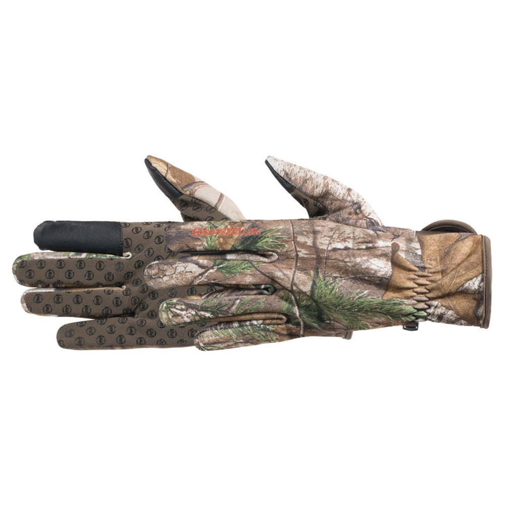 Men's Whitetail Bow Touchtip Gloves in Realtree Xtra Pair Side Profile