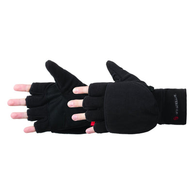 Men's Cascade Convertible Outdoor Gloves pair in Black side profile