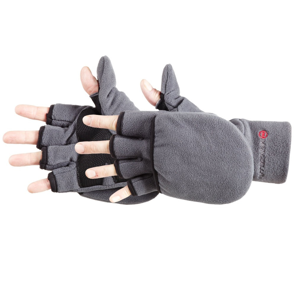 Men's Cascade Convertible Outdoor Gloves pair in Charcoal side profile