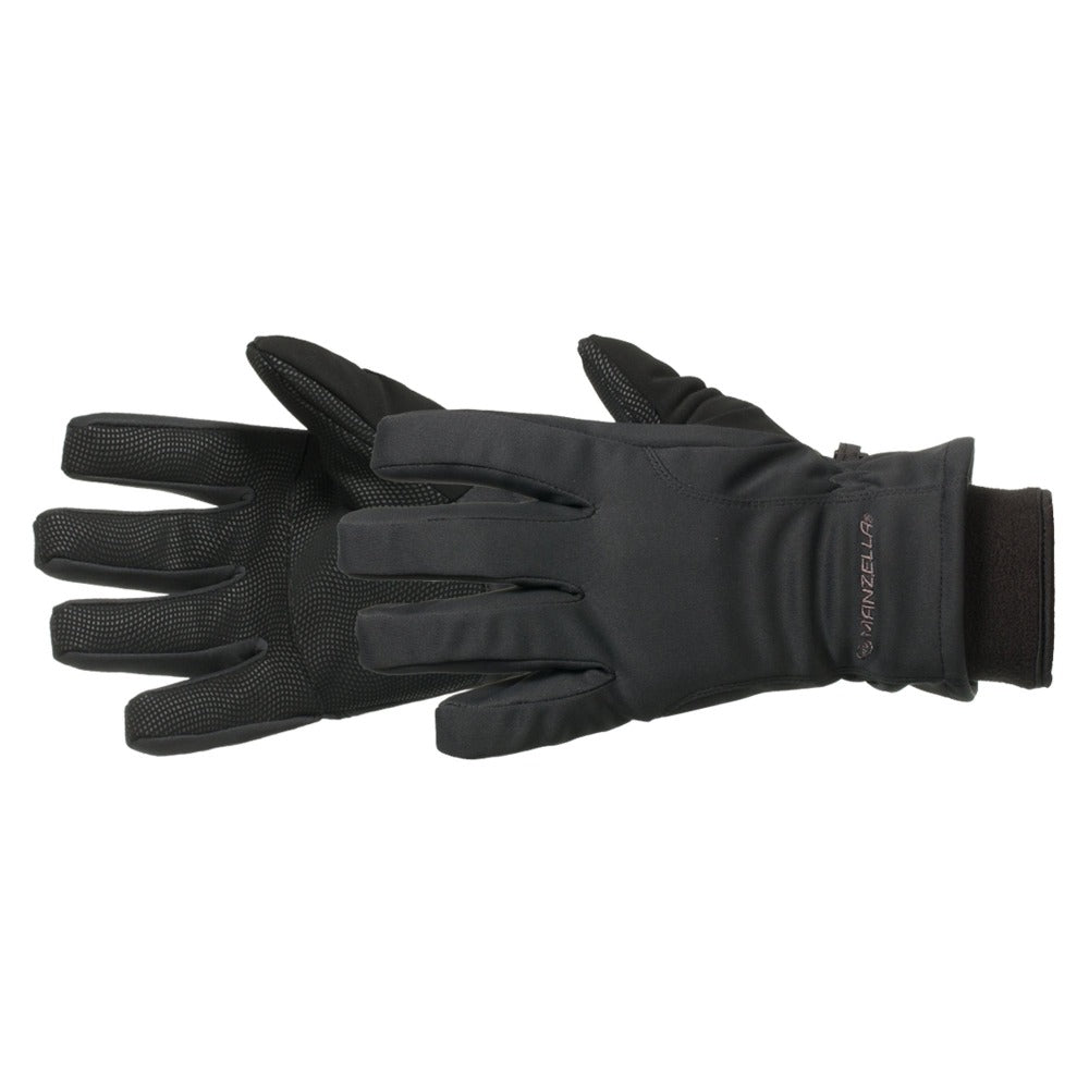 Women's Adventure 100 Outdoor Gloves Pair in Black Side Profile