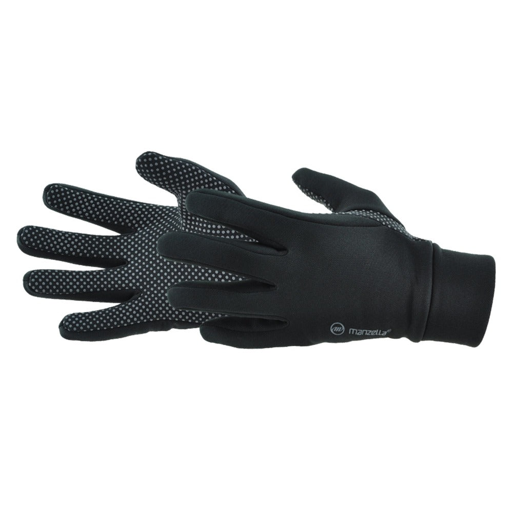 Men's Power Stretch Glove pair in black side profile
