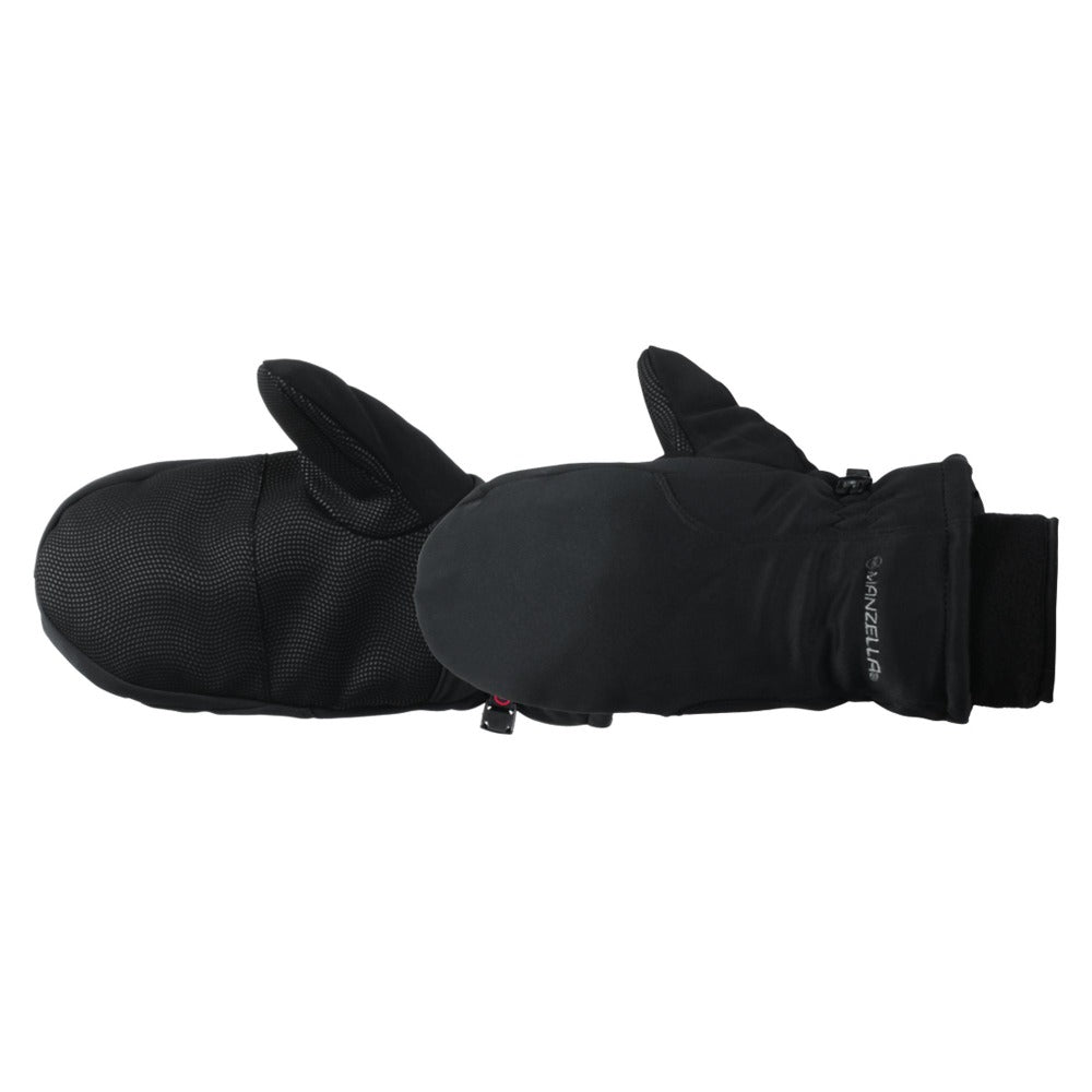 Women's Adventure 100 Outdoor Mittens Pair in black side profile