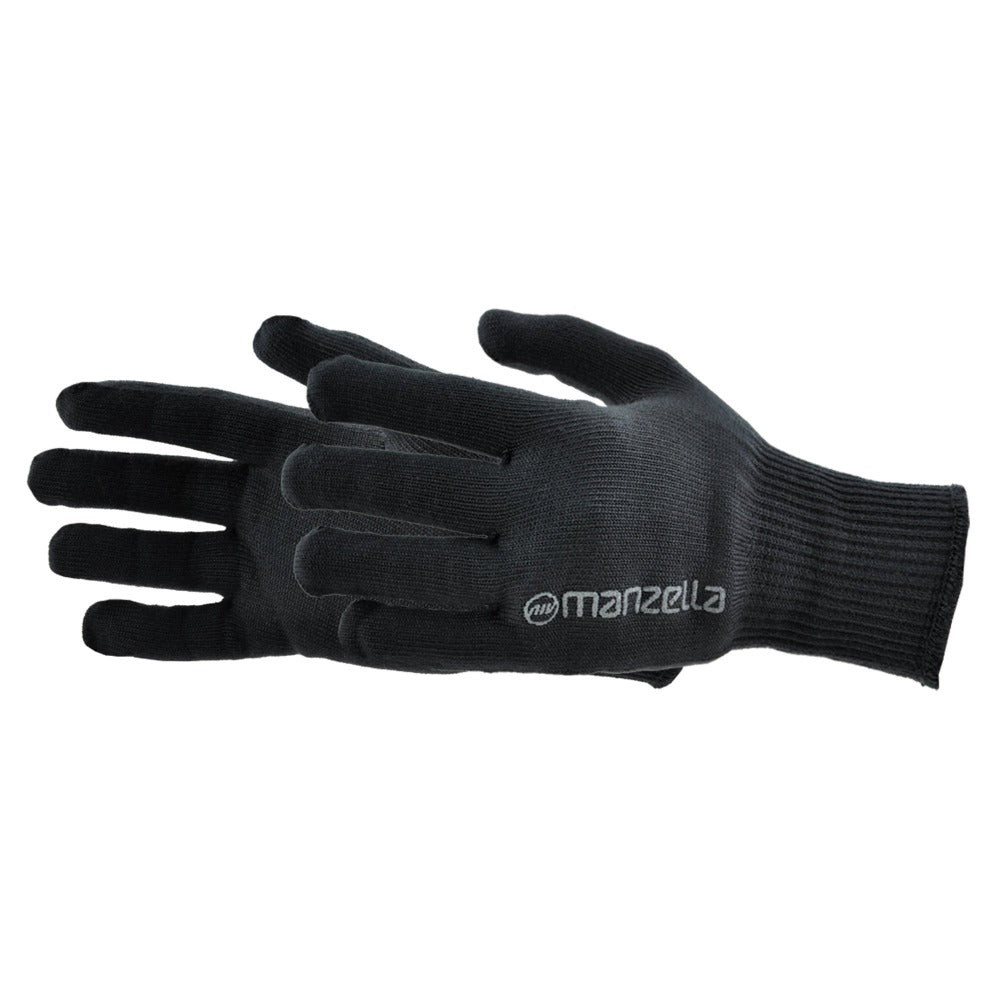 Women's Max-10 Liner Outdoor Glove Liners in Black Pair Side profile