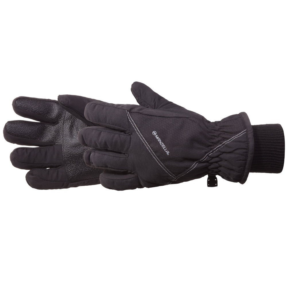 Kids Slideslip Outdoor Gloves in Black Pair Side Profile