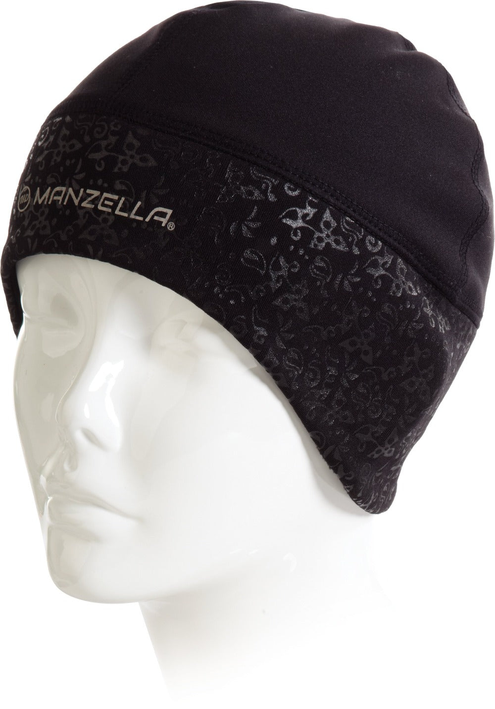 Women's Get Intense Ponytail Beanie On Figure Left Angled View