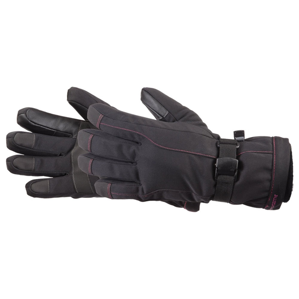 Women's Fahrenheit 5 Touchtip Gloves in Jet Black Pair Side View