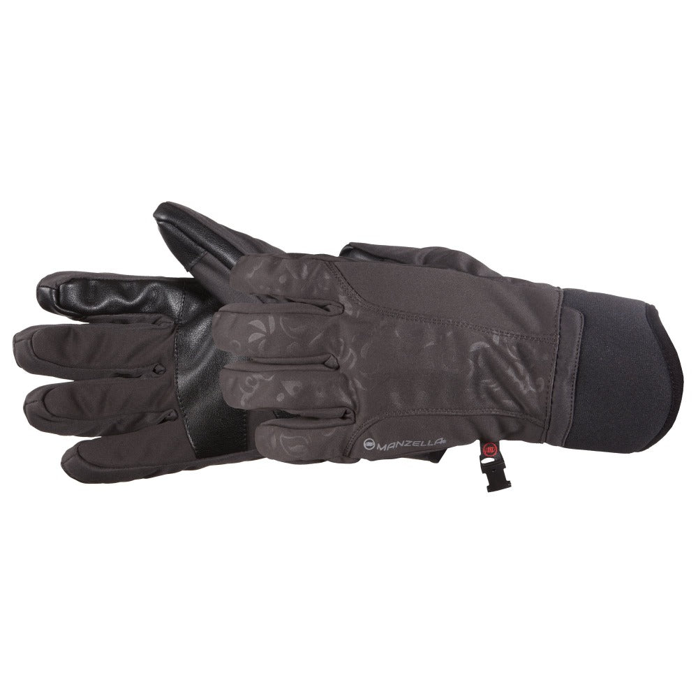 Women's Get Intense Touchtip Gloves in Grey Pair Side Profile