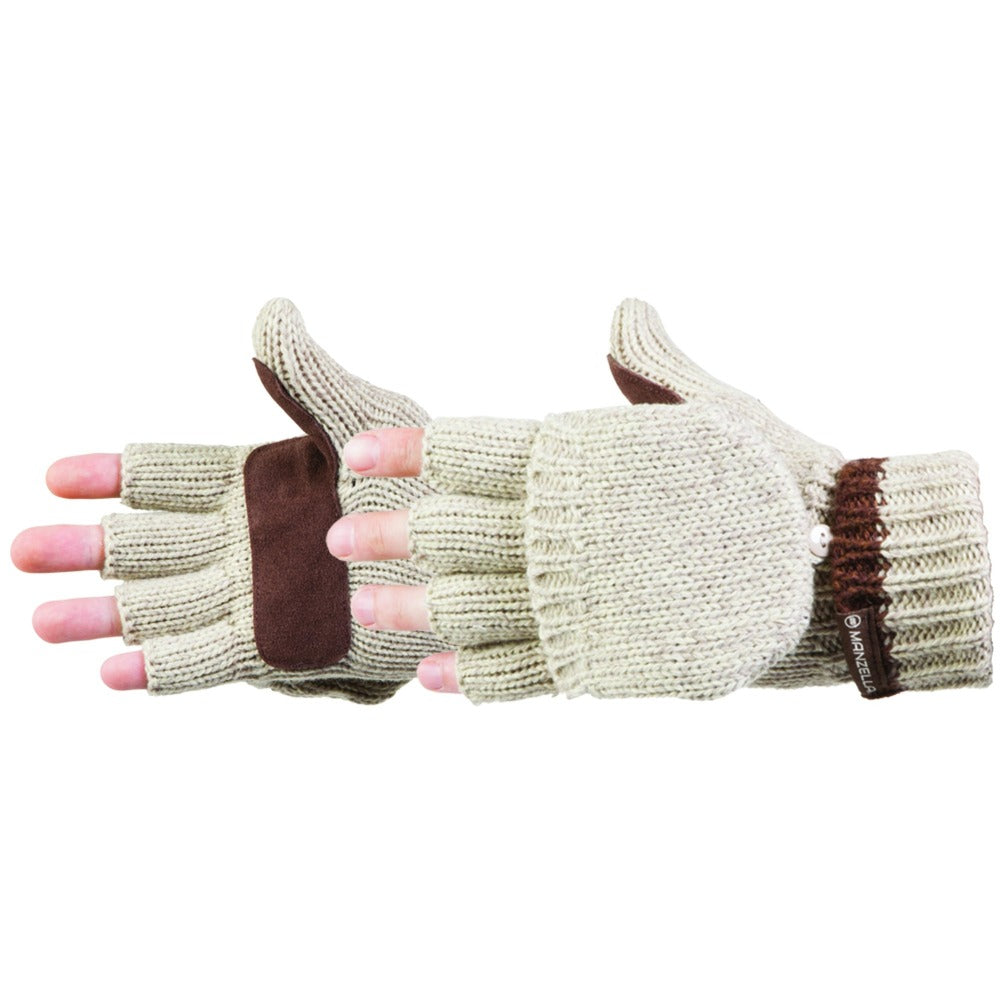 Men's Ragwool Knit Flip Top Glove Side Profile View