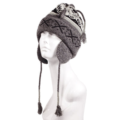 Women's Snow Star Hat in Oxford Heather Left Angled View