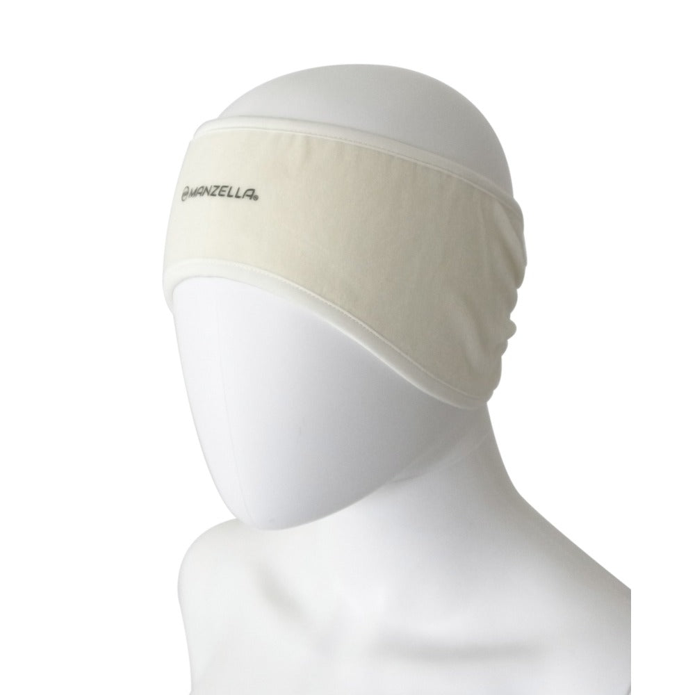 Women's Tahoe Headband in Ivory Left Angled View