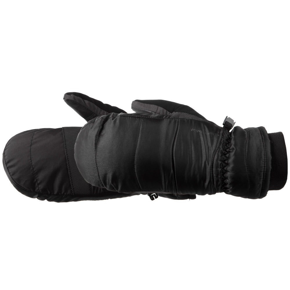 Women's Marlow TouchTip Ski Mitten in Black Pair Side Profile