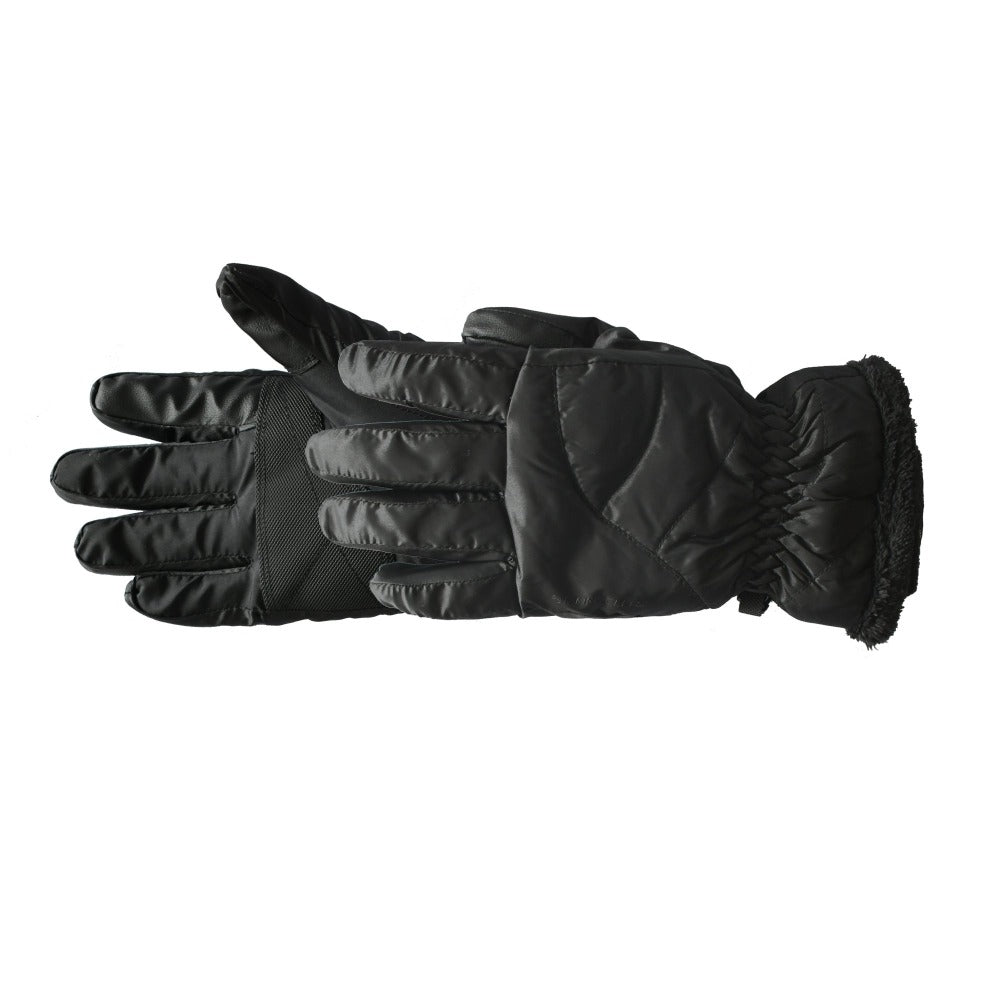 Women's Marlow TouchTip Ski Glove in Black Pair Side Profile