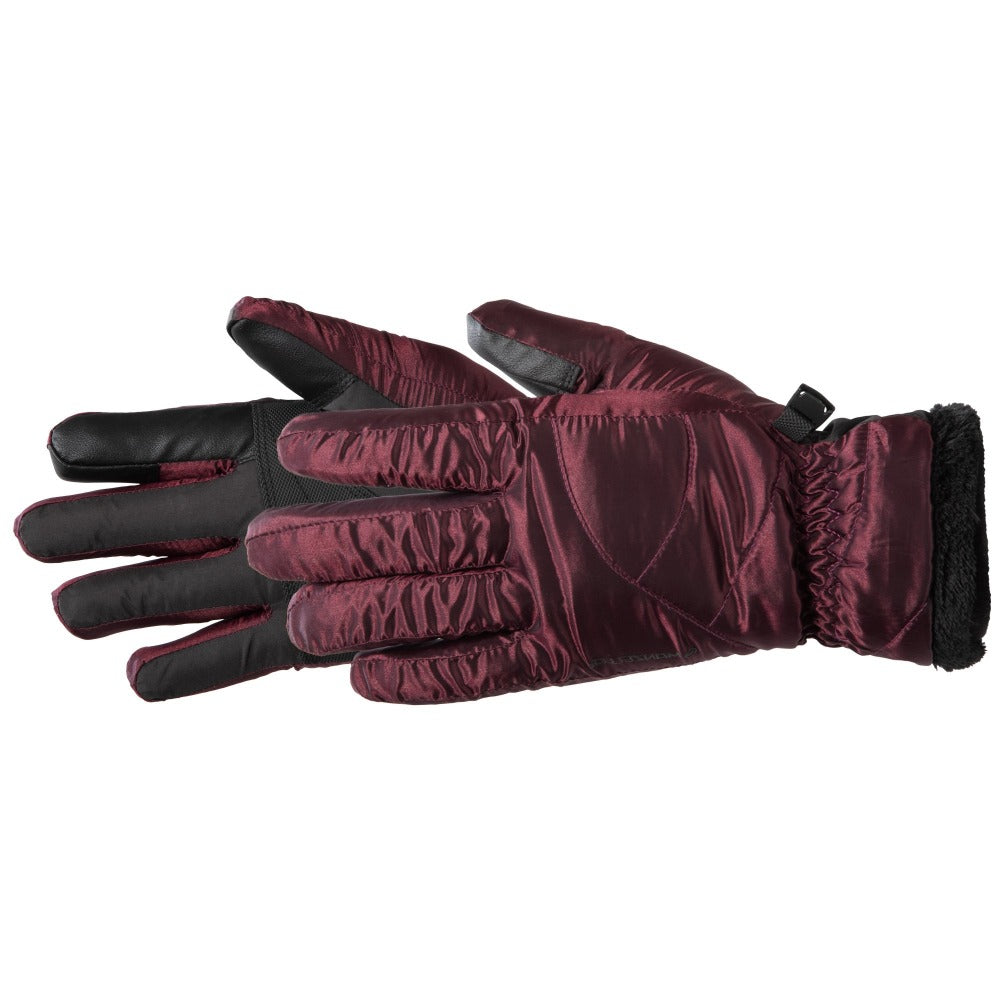 Women's Marlow TouchTip Ski Glove in Plum Pair Side Profile