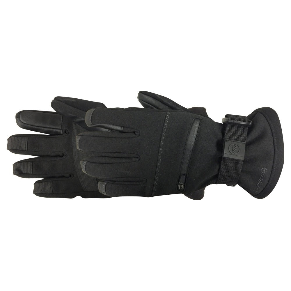 Men's Everest Touchtip Gloves pair in black side profile