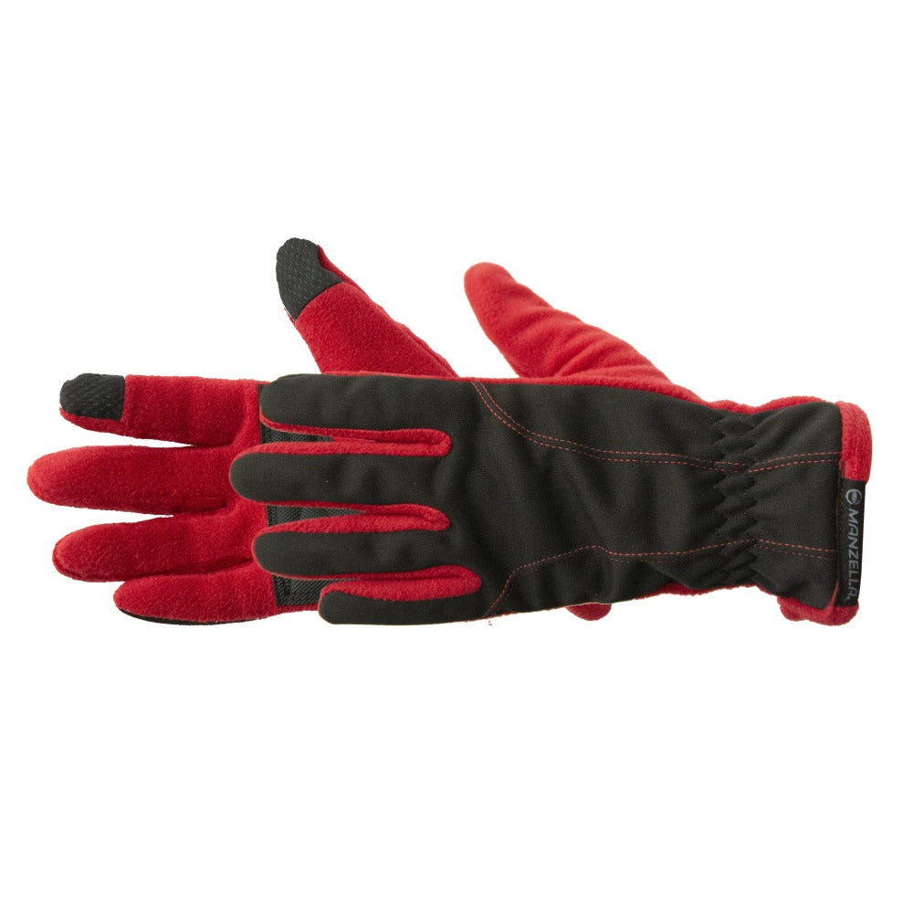 Women's Equinox Ultra TouchTip Glove pair in Chili Pepper Red side profile