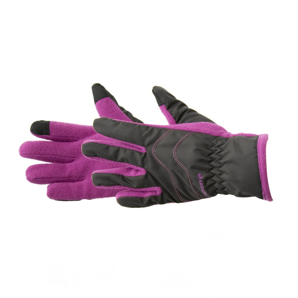 Kid's Frisco TouchTip Gloves pair in Purple side profile
