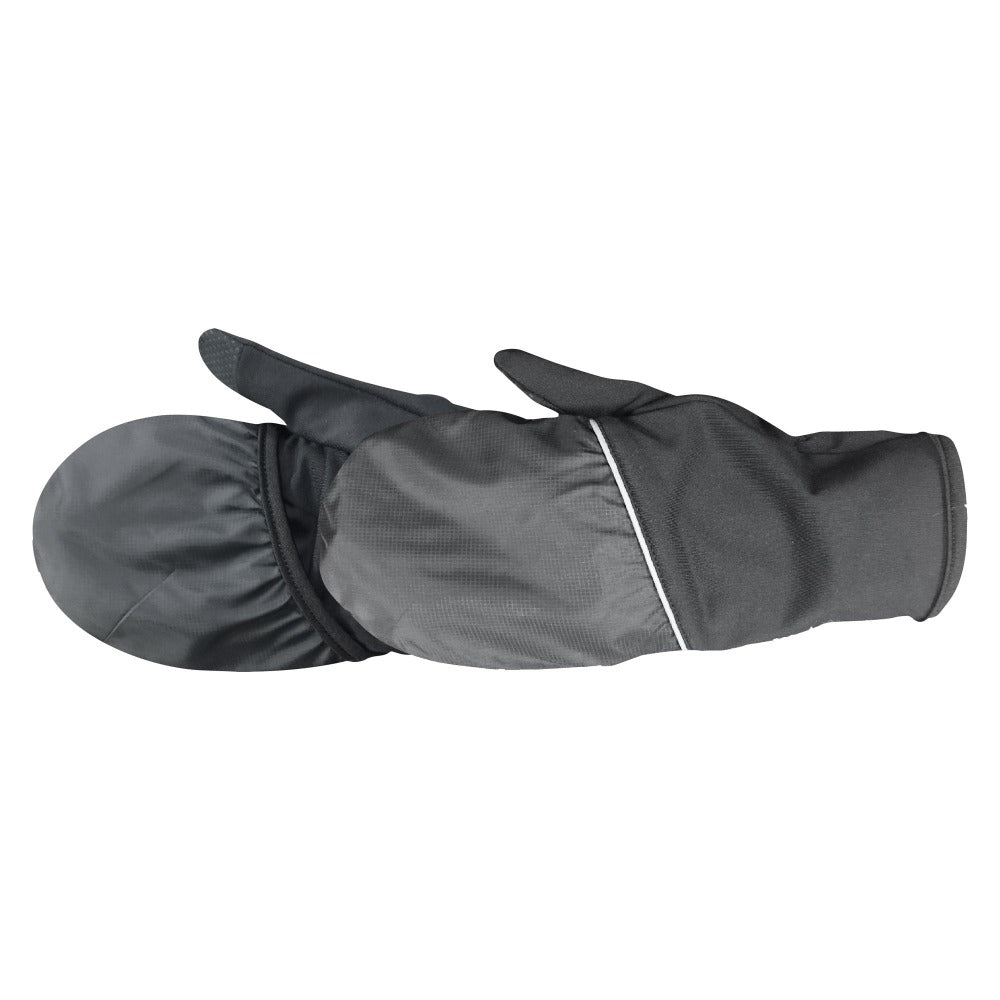Men's Convertible Sterling TouchTip Gloves pair in black side profile