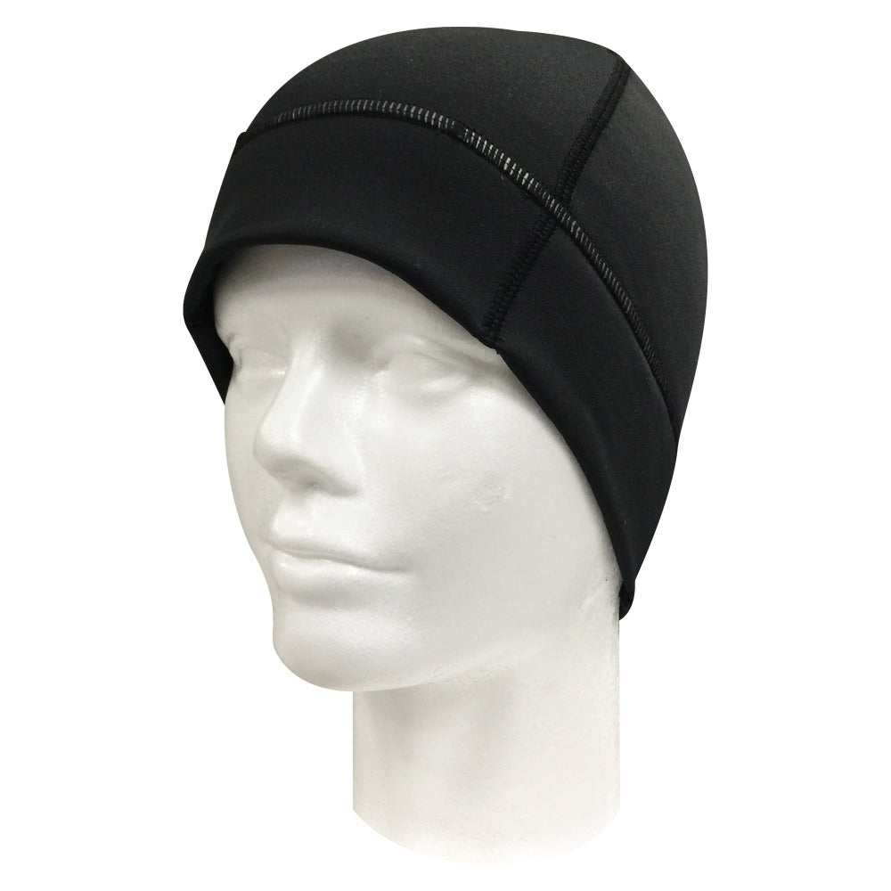 Women's Elite Beanie in black on foam head