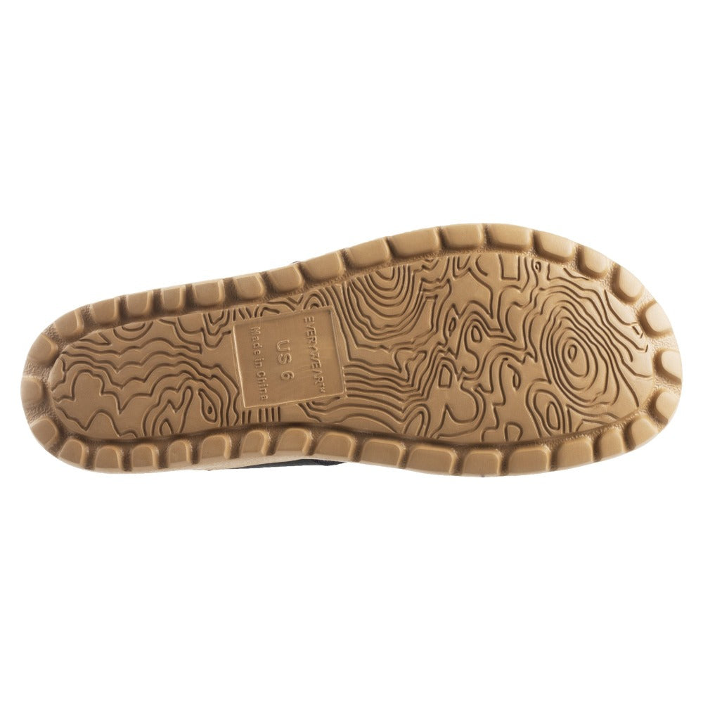 Acorn Riley Sandal Outsole View with Topography Map