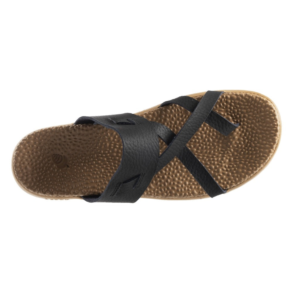 Acorn Riley Sandal in Black Top Down View