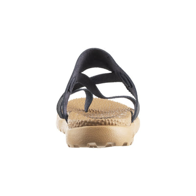 Acorn Riley Sandal in Black Back View From Heel