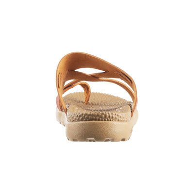 Acorn Riley Sandal in Orange Back View from Heel
