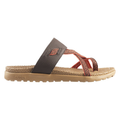 Acorn Riley Sandal in Brown Side Profile View