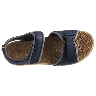 Acorn Women's Grafton Sandal Navy Blue with Adjustable Straps Top Down View