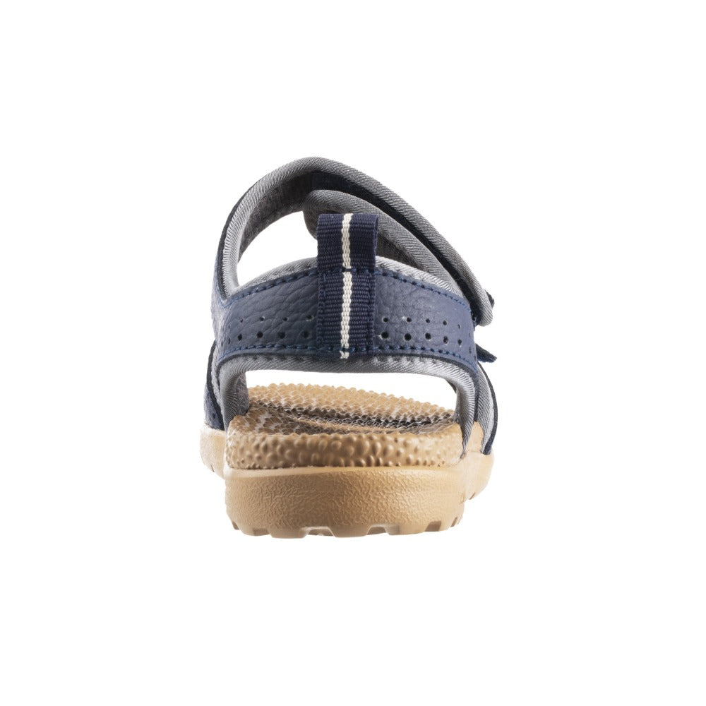 Acorn Women's Grafton Sandal Navy View with Adjustable Straps Back View