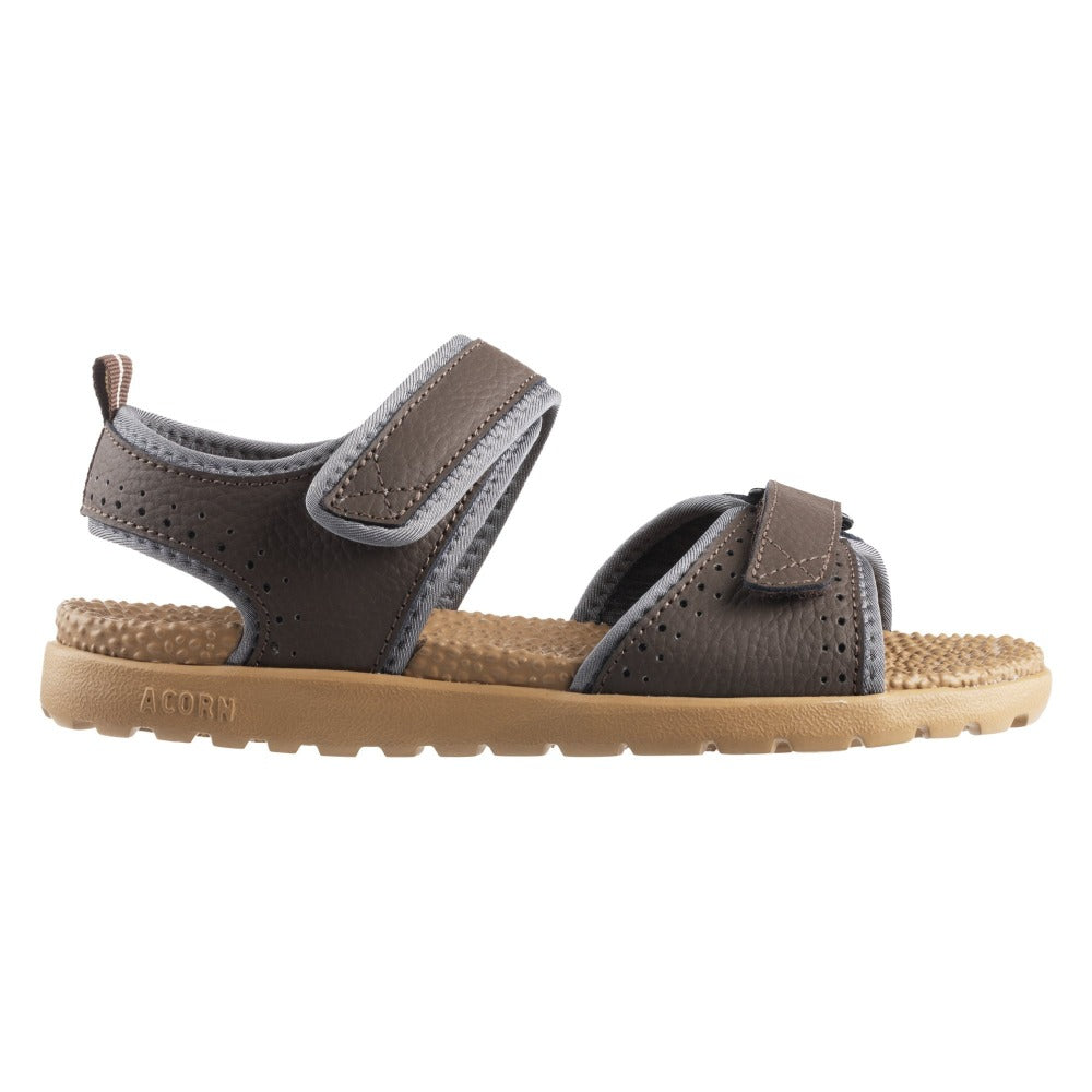 Acorn Women's Grafton Sandal Walnut with Adjustable Straps