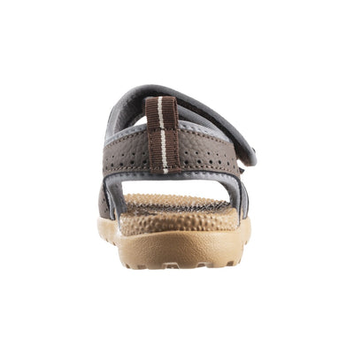 Acorn Women's Grafton Sandal Walnut with Adjustable Straps Back View