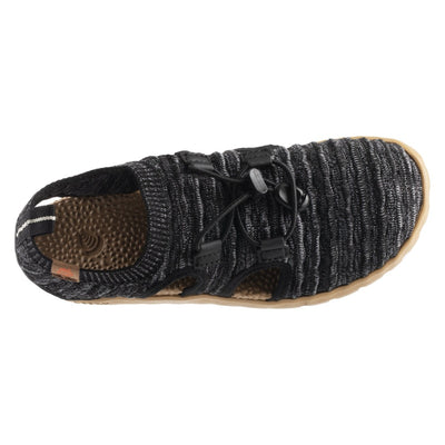 Acorn Casco Recycled Knit Sandal in Black  Top Down View