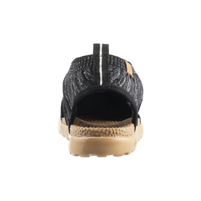 Acorn Casco Recycled Active Sandal in Black Back View from Heel
