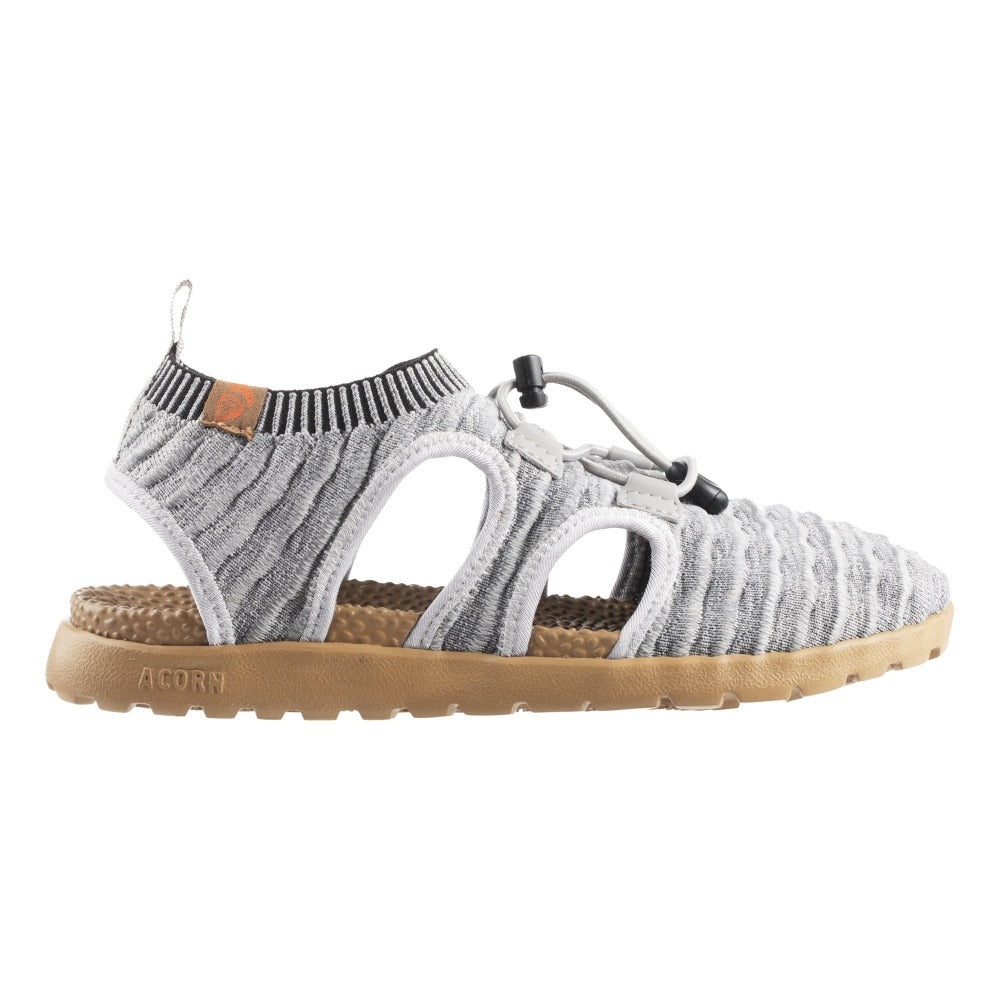 Acorn Casco Recycled Active Sandal in Heather Grey Side Profile View