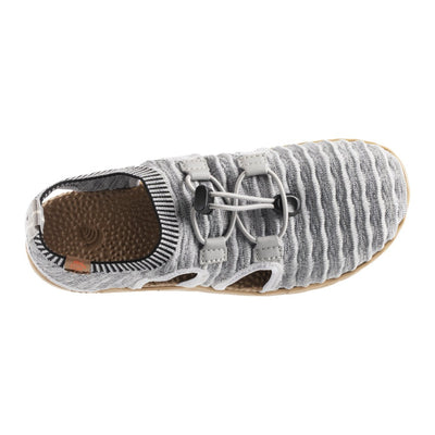 Acorn Casco Recycled Knit Sandal in Heather Grey  Top Down View
