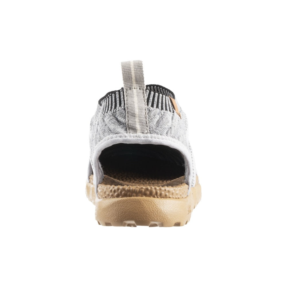 Acorn Casco Recycled Active Sandal in Heather Grey Back View from Heel