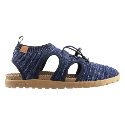 Acorn Casco Recycled Knit Sandal in Navy