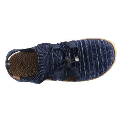 Acorn Casco Recycled Knit Sandal in Navy Top Down View