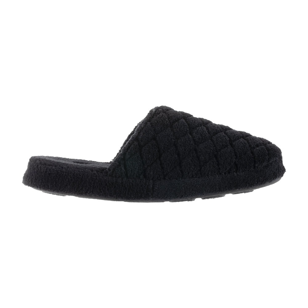 Women's Spa Quilted Clog in Black Profile