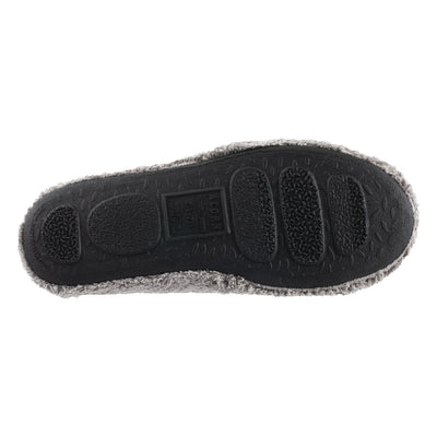 Women's Spa Quilted Clog in Grey Bottom Sole Tread