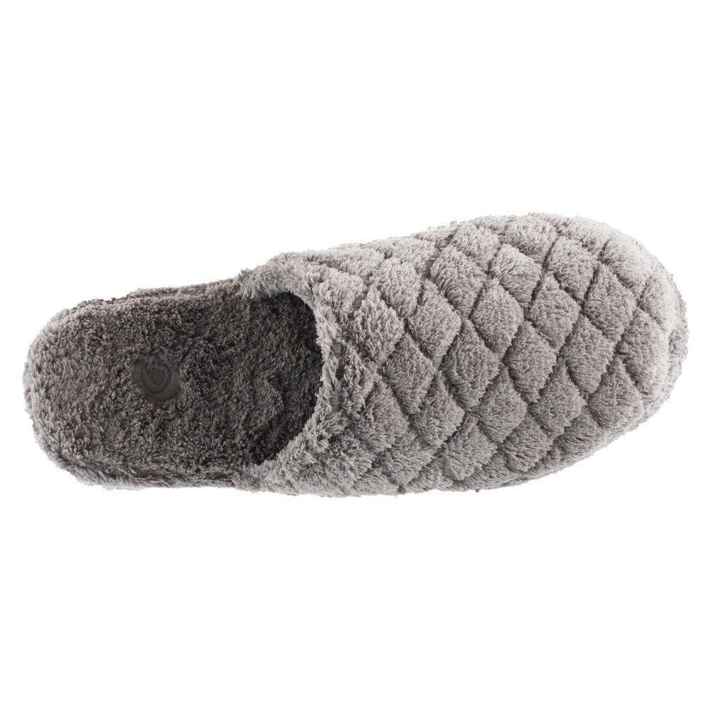 Women's Spa Quilted Clog in Grey Inside Top View