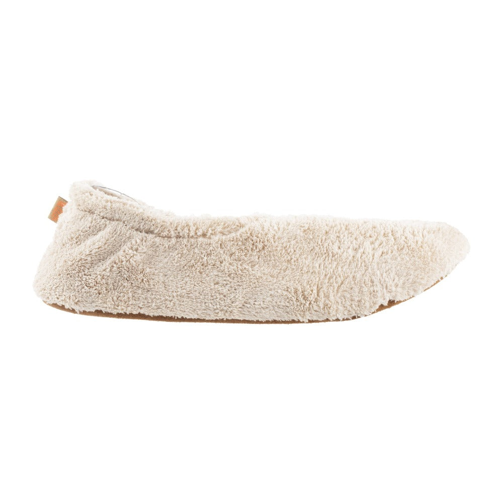 Women's Spa Travel Slipper in Taupe Profile