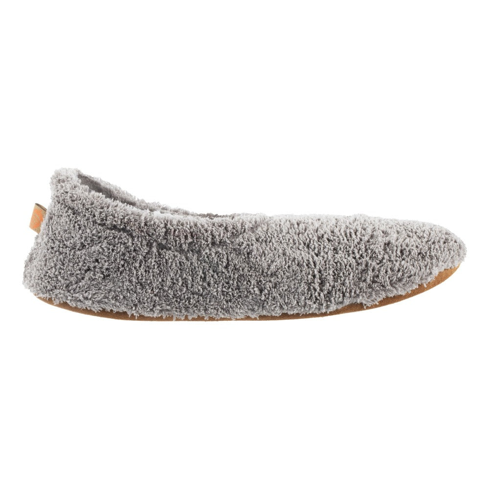Women's Spa Travel Slipper in Grey Profile