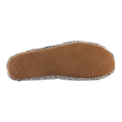 Women's Spa Travel Slipper in Grey Bottom Sole Tread