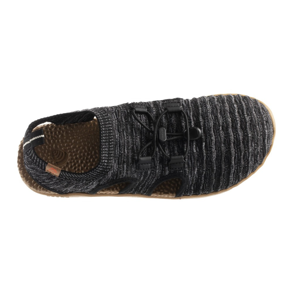Acorn Men's Casco Active Sport Sandal in Black Top Down View