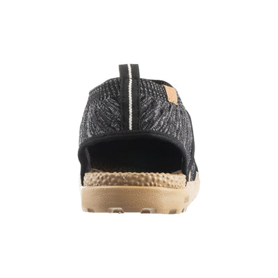 Acorn Men's Casco Active Sport Sandal in Black Back Heel View