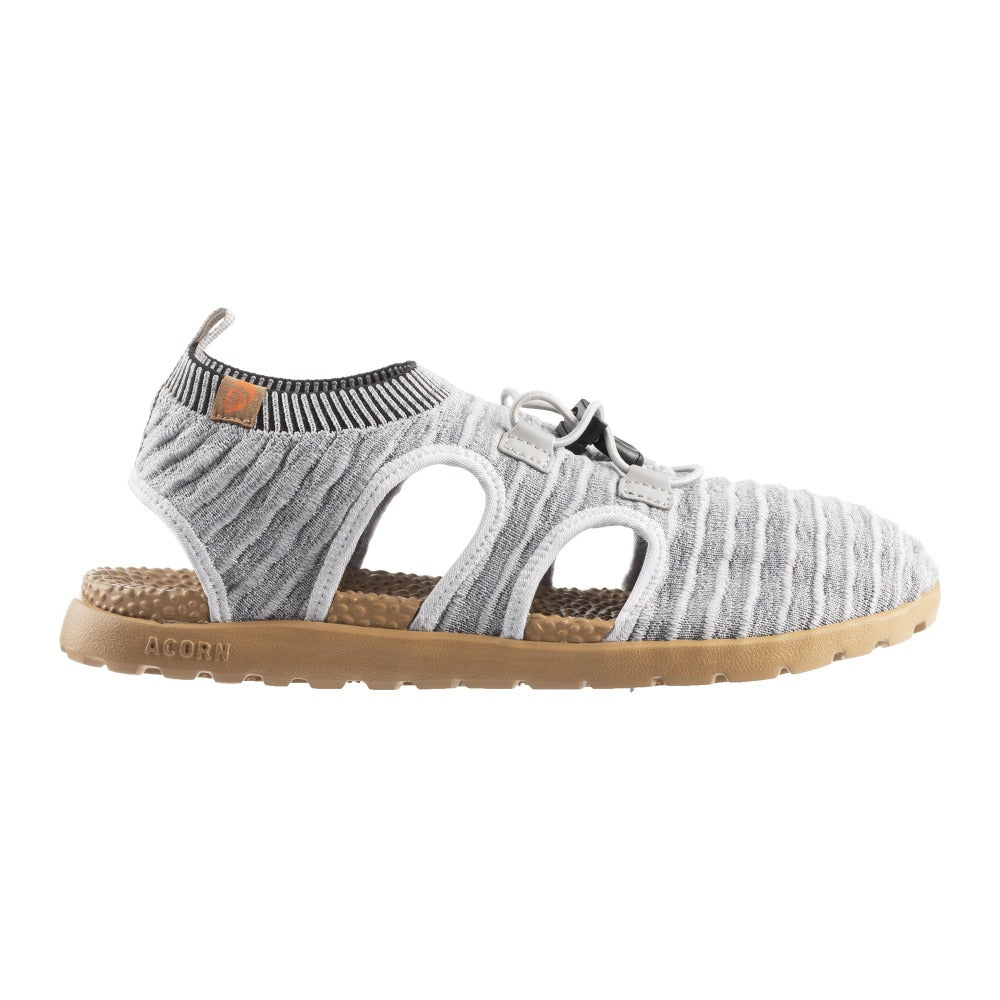 Acorn Men's Casco Active Sport Sandal in Heather Grey Side Angle View